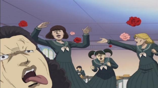 """...C'est de l'humour façon """"Sakigake!! Cromartie Kôkô""""."""